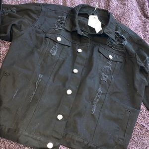 NWT BLACK JEAN JACKET